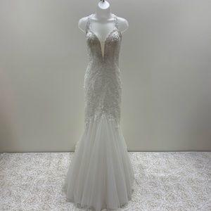 NWT Mon Cheri Designer Mermaid Wedding Gown
